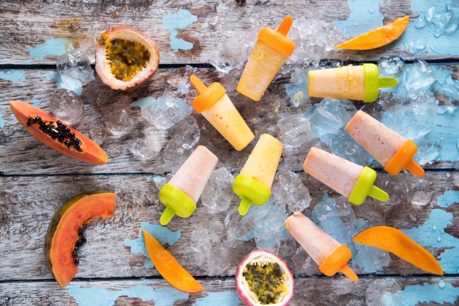 Recipe for Mango Yoghurt Popsicles